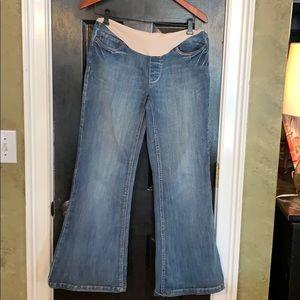 Motherhood flare maternity jeans small